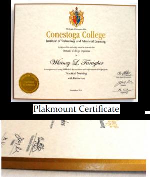 plakmount certificate